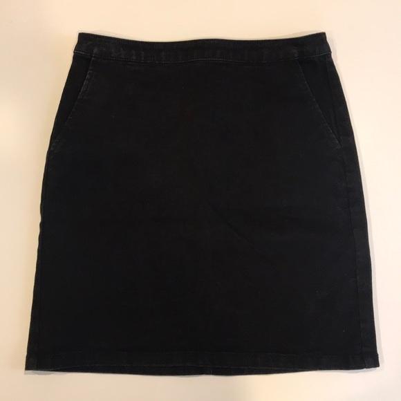 Warehouse Dresses & Skirts - Asos Warehouse Black Denim Skirt (Size 6)